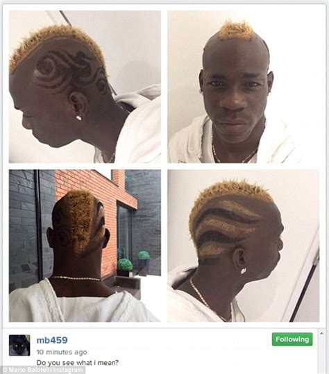 last on the talk show gets new hair cut mario balotelli shows off new hairstyle as liverpool