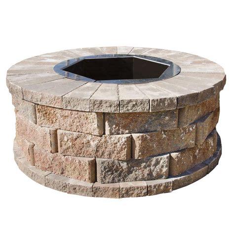 pavestone 40 in w x 16 in h rockwall pit kit