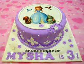 Sofia The First Decoration Ideas Jenn Cupcakes Amp Muffins Sofia The First Cake
