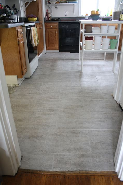 gray kitchen floor tile tips for installing a kitchen vinyl tile floor merrypad