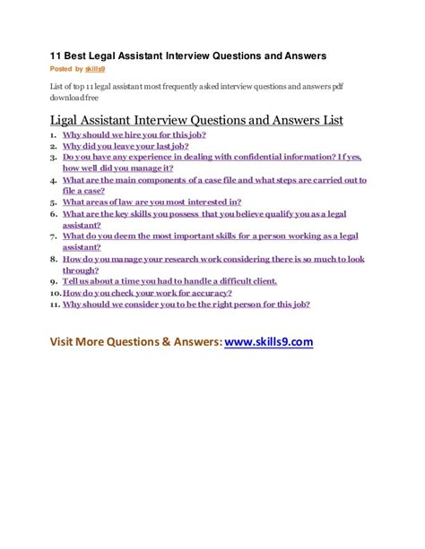 11 best assistant questions and answers