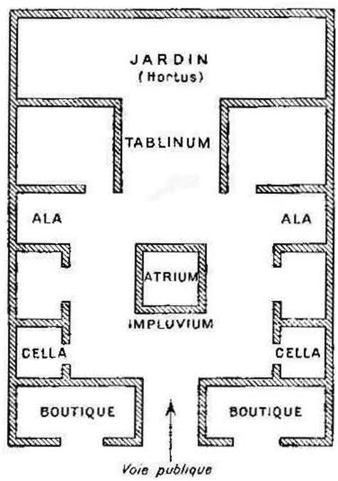Double Garage Plans plan de maison romaine