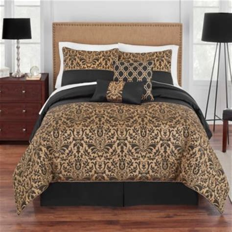 black bed comforter sets buy gold comforters from bed bath beyond