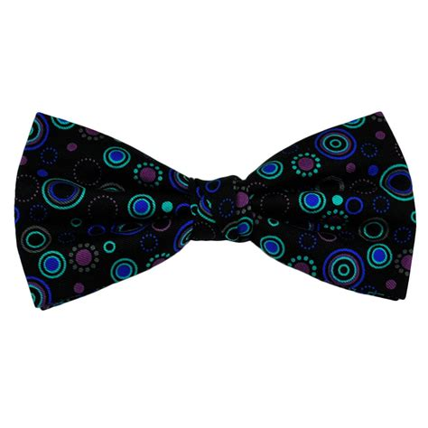 Patterned Bow Tie black patterned silk bow tie from ties planet uk