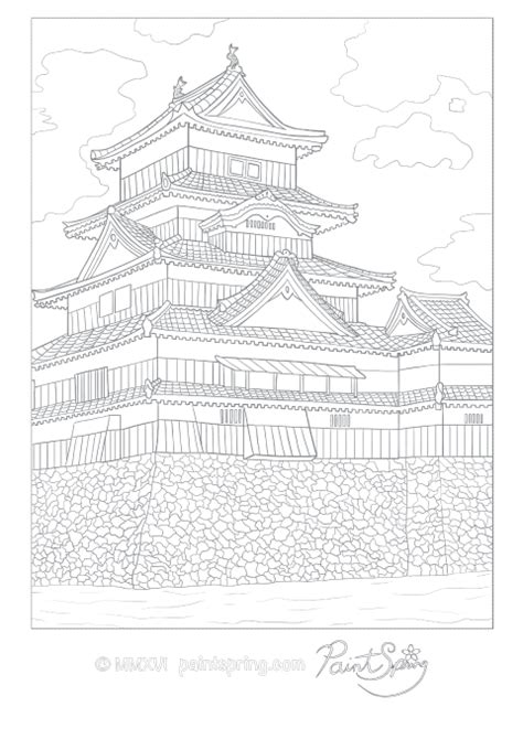 detailed adult coloring page   japanese