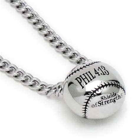 stainless steel 3 d mini baseball pendant necklace phil 4