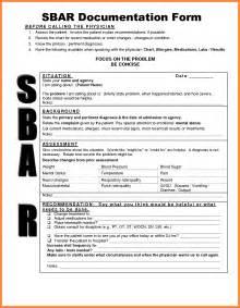 Sbar Template Nursing by 9 Sbar Nursing Exles Invoice Exle 2017