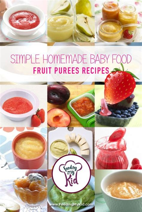 fruit 6 month baby simple baby food fruit puree recipes