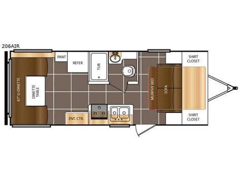 Tracer Rv Floor Plans 2017 forest river prime time tracer air 206air tt stk 2193