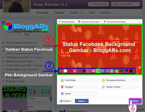 cara membuat status twitter masuk ke facebook cara membuat status facebook background gambar terbaru