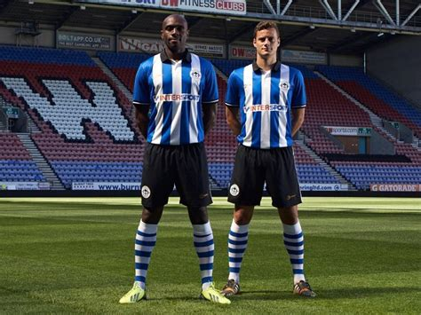 wigan athletic   home   kits released