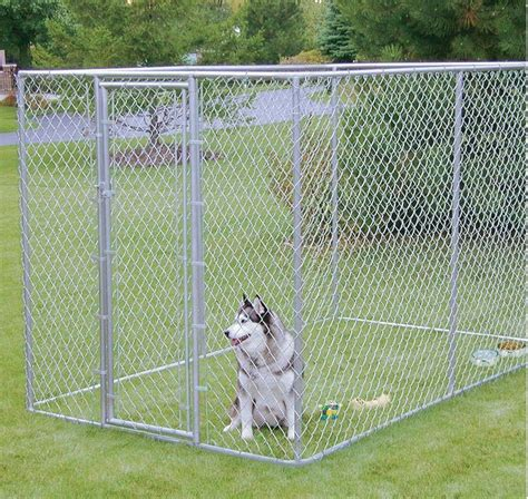 chain link pens large chain link 6 x10 x6 kennel pet pen fence run outdoor house enclosure ebay