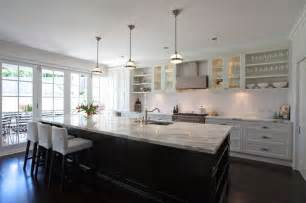 Galley Style Kitchen With Island Galley Kitchen With Large Island Bench Kitchen Ideas White Counters Marble Top
