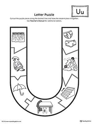 printable alphabet letter puzzles letter u puzzle printable myteachingstation com