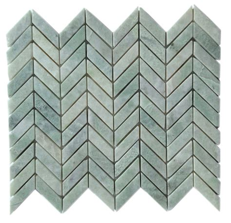 ming green marble tile homesfeed 5 8 quot x 2 quot ming green marble herringbone polished mesh