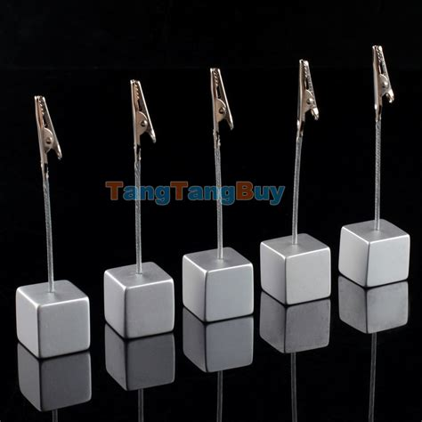 Wedding Photo Clip Holders by Lot 5pcs Cube Wire Card Picture Memo Photo Clip Holders