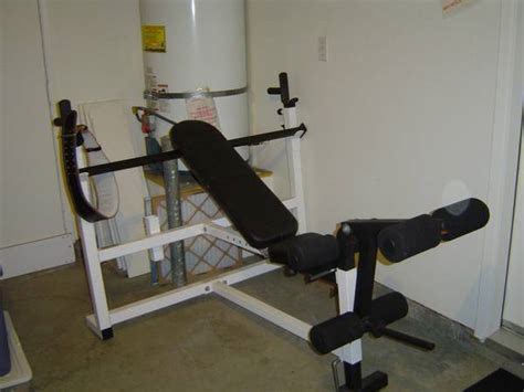 300 lb weight set and bench parabody bench espotted