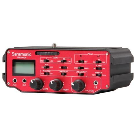Saramonic Sr Ax104 Active Xlr Audio Adapter For Dslr saramonic ax104 active xlr audio adapter for dslr