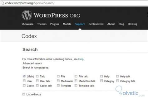 wordpress tutorial codex wordpress el codex solvetic