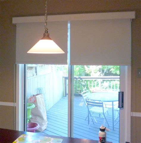 Patio Door With Blinds Roller Shades For Patio Doors Window Treatments Design Ideas