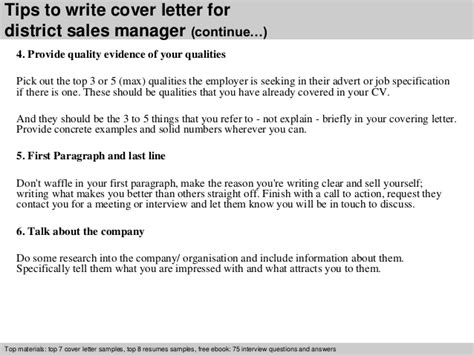 area manager cover letter district sales manager cover letter