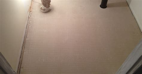 What Size Cement Board For Tile Floor by Tiling Bathroom Floors Use Cement Board To Create A Rock