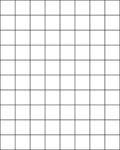 1 Inch Grid Paper Template 1 inch bold graph paper free