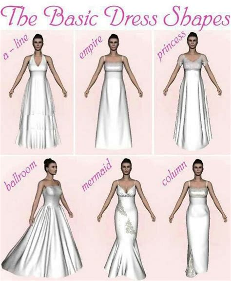 different shapes of wedding dresses wedding dress shapes happily after