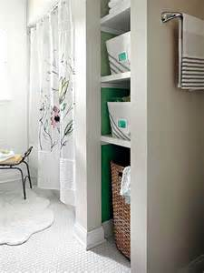 Bathroom Closet Shelving Ideas by Bath Makeovers 2 000 Open Shelving Nooks And Hers