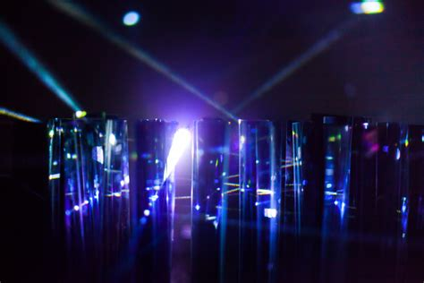 power of one point refracting laser light installation