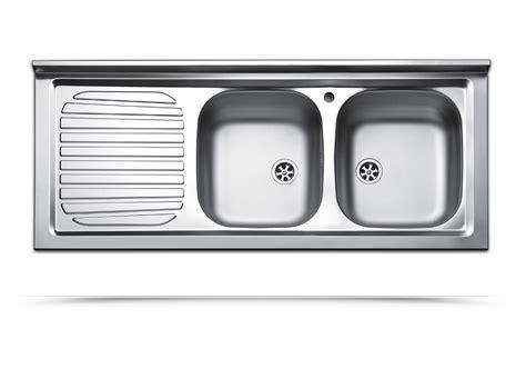 lavello in acciaio lavello da appoggio due vasche con gocciolatoio a sinistra
