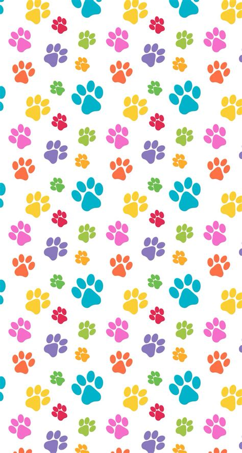 cute pattern designs pets paws print pattern colorful cute design wallpaper