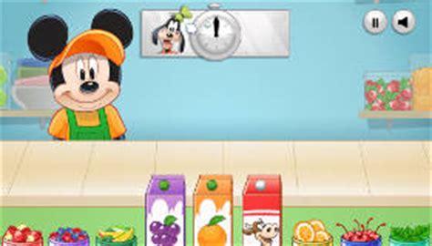 jeux de cuisine de mickey les smoothies aux fruits de mickey jeu de fruits jeux