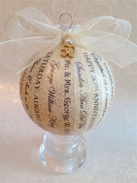 Handmade Anniversary Gifts For - 50th anniversary gift for parents friends personalized