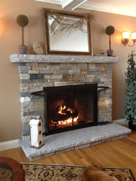 DIY Faux Stone Fireplace   Fireplace Designs