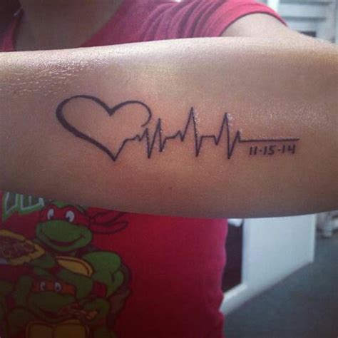 flat line tattoos 25 best ideas about heartbeat with name on