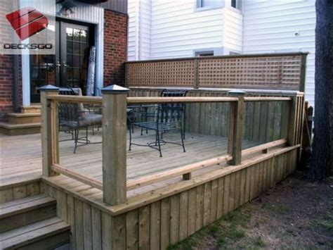 Glass And Wood For Railing
