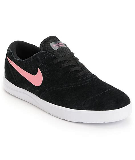nike sb eric koston 2 lunarlon black pink white skate shoes