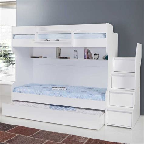 modern bunk bed with trundle a refreshingly modern high end children s bunk bed