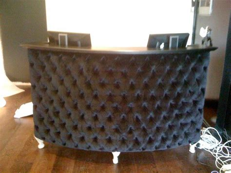 Padded Reception Desk Bad Black Velvet Is A Hair Magnet And Sponge Daycare Ideas