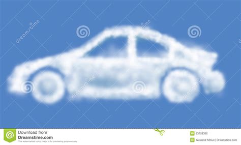 Wolken Auto by Cloud Car Stock Illustration Image 53759360