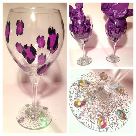 Decorating Glass With Glitter by 1000 Images About Wine Glass Decorating On