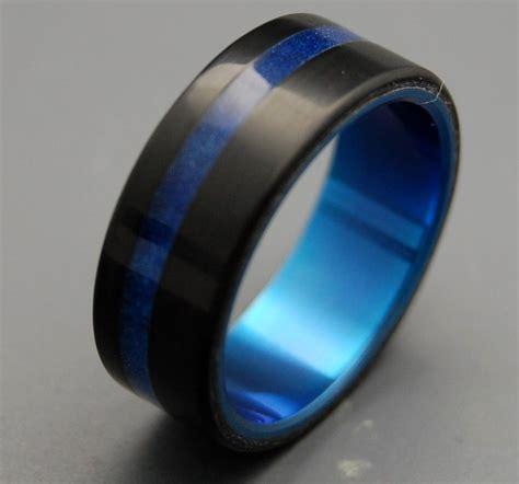 Wedding Bands Blue by Black And Blue Wedding Band Titanium Resin Wedding