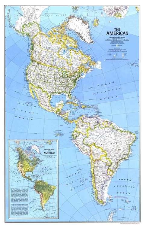 the americas map national geographic the americas map 1979 maps