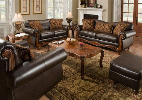 traditional leather sofa set brown bonded leather traditional sofa loveseat set w options