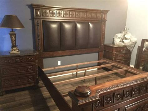 King Bedroom Sets With Marble Tops by 8pc Beautiful King Bedroom Suite With Marble