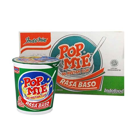 Pop Mie Baso 24 Cups jual pop mie kuah rasa baso makanan instan 24 pcs
