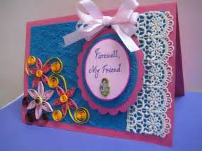 handmade farewell card it s so beautiful cards handmade invitation cards