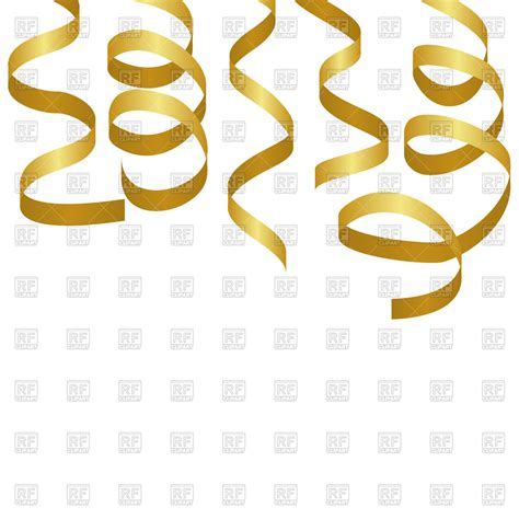 free clipart vector golden streamers royalty free vector clip image