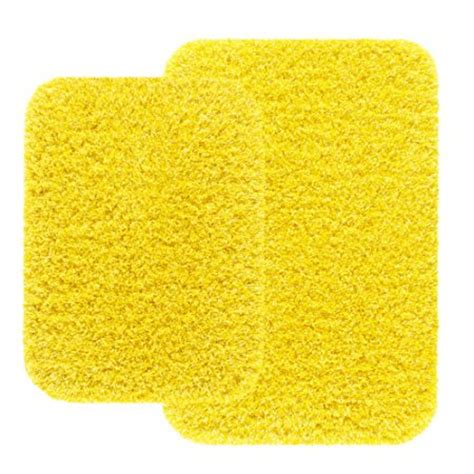yellow bathroom rug mainstays 2 piece bath rug set yellow caution walmart com